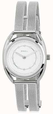 Breil Dial de conjunto de cristal de prata de aço inoxidável Petit TW1652