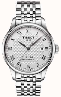 Tissot Mens le locle powermatic 80 relógio de aço inoxidável automático T0064071103300