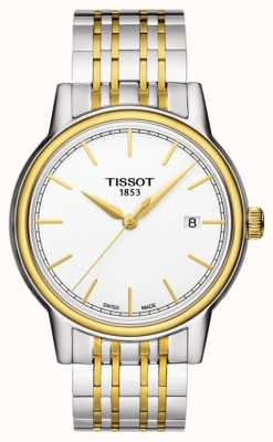 Tissot Carson mens quartz two tone swiss data feita T0854102201100