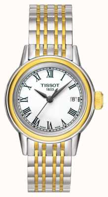 Tissot Carson womens quartz two tone swiss data feita T0852102201100