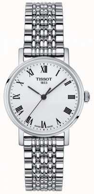 Tissot Feminino sempre pequeno mostrador prata safira em aço inoxidável T1092101103300