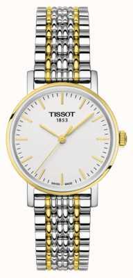 Tissot Womens everytime pulseira de dois tons de ouro chapeado T1092102203100