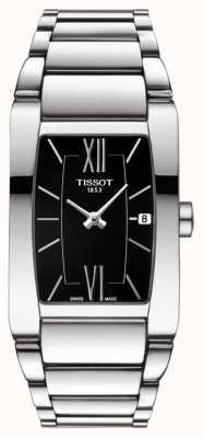 Tissot Womens generosi-t aço inoxidável preto tonneau dial date T1053091105800