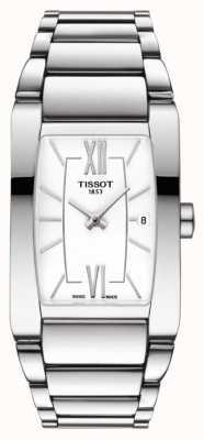 Tissot Womens generosi-t aço inoxidável branco tonneau dial date T1053091101800