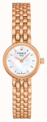 Tissot Esfregão feminino folheado a ouro rosa adorável T0580093311100