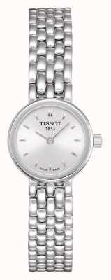 Tissot Pulseira de aço inoxidável encantadora das mulheres banhado a prata discagem T0580091103100