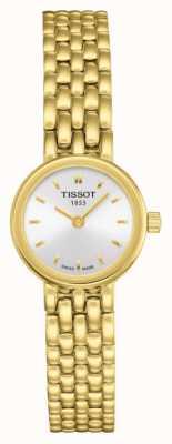Tissot Womens lindo banhado a ouro pulseira de prata banhado a discagem T0580093303100