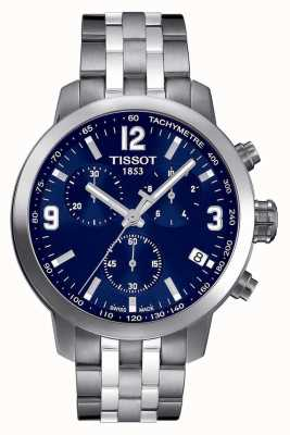 Tissot Mens prc 200 cronógrafo azul discar dois tons T0554171104700