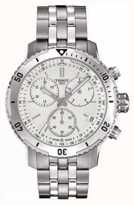 Tissot Mens prs 200 prata cronógrafo cronógrafo em aço inoxidável T0674171103101