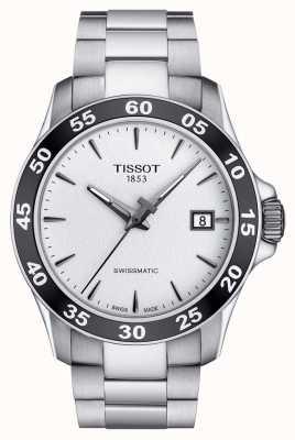 Tissot Mens v8 swissmatic prata pulseira de aço inoxidável dial T1064071103100