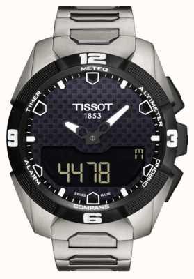 Tissot Mens t-touch perito solar titanium pulseira sensor gêmeo T0914204405100