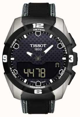 Tissot Mens t-touch perito solar titânio gêmeo sensor de couro T0914204605101
