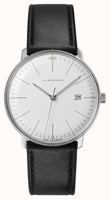 Junghans Nota máxima de quartzo | pulseira de couro preto 041/4817.04