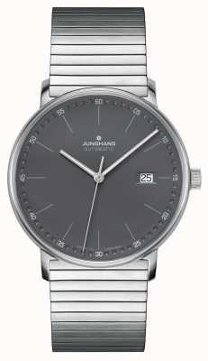 Junghans Forme um relógio automático de pulseira de aço inoxidável 027/4833.44