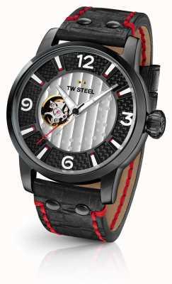 TW Steel Filho do tempo supremo limited edition pulseira de couro preto TWMST6
