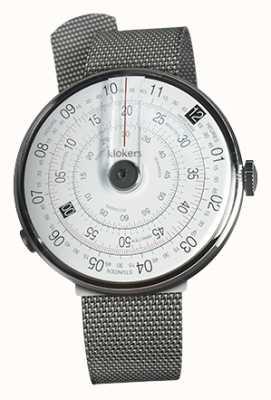 Klokers Klok 01 cinta de aço preta cabeça de relógio milano KLOK-01-D2+KLINK-05-MC1