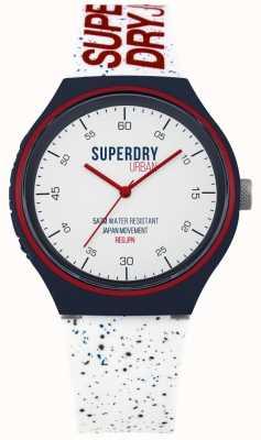 Superdry Correia de silicone branca xl azul fleck SYG227W