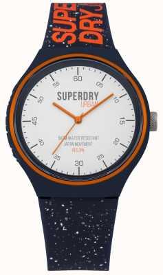Superdry Correia de silicone azul marinho fleck xl fleck SYG227U