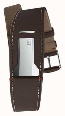 Klokers Klink 01 cinta castanho chocolate apenas 22mm de largura 230mm de comprimento KLINK-01-MC4