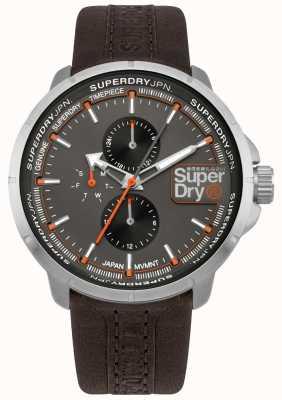 Superdry Mostrador cinza cinta ranger marrom cinza SYG218T