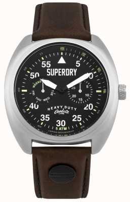 Superdry Escoteiro aviador data e dia exibir cinta preta SYG229BR