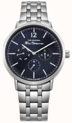 Ben Sherman Mostrador azul dia e data exibir pulseira de aço inoxidável BS011USM