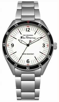 Ben Sherman Caixa e pulseira em aço inoxidável com mostrador creme BS007WSM