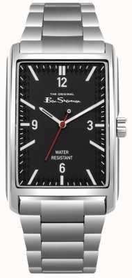 Ben Sherman Caixa e pulseira em aço inoxidável com mostrador preto BS013BSM