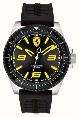 Scuderia Ferrari Xx kers preto mostrador preto ip revestido caso pulseira de borracha preta 0830487