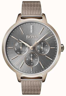 Hugo Boss Symphony grey dial dia e data malha cinta 1502424