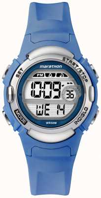 Timex Maratona esportes digitais relógio pulseira azul claro TW5M14400