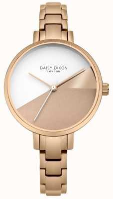 Daisy Dixon Senhoras ava rosa ouro três cores dial rosa pulseira de ouro DD065RGM