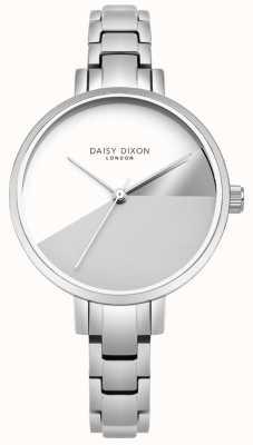 Daisy Dixon Senhoras ava prata três cores de discagem pulseira de aço de prata DD065SM