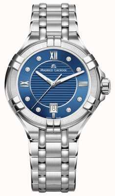 Maurice Lacroix Aikon feminino 35 milímetros de aço inoxidável mostrador azul AI1006-SS002-450-1
