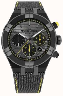 Maurice Lacroix Edição limitada aikon 'perseguir o relógio' pulseira preta AI6018-PVB01-331-1