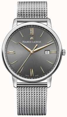 Maurice Lacroix Mens eliros pulseira de malha mostrador preto acentos de ouro EL1118-SS002-311-1