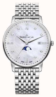 Maurice Lacroix Womens eliros moonphase mãe de pulseira de malha de pérola EL1096-SS002-170-1