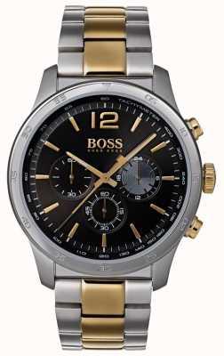 Boss Mens cronógrafo profissional assistir pulseira de dois tons 1513529