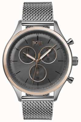Hugo Boss Mens companheiro cronógrafo relógio cinza 1513549