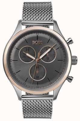 Boss Mens companheiro cronógrafo relógio cinza 1513549