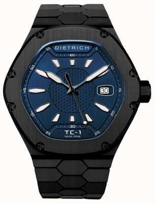 Dietrich Tempo companheiro automático black pvd blue dial TC-1 PVD BLUE