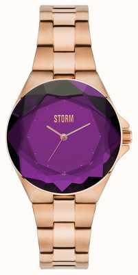 STORM Crystana rosa pulseira de ouro roxo ip 47254/P
