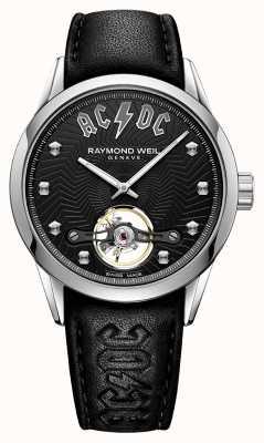 Raymond Weil Freelancer acdc edição limitada mostrador preto 2780-STC-ACDC1