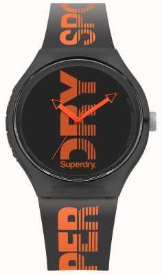 Superdry Mostrador preto de cinta de silicone preto urbano SYG189BO