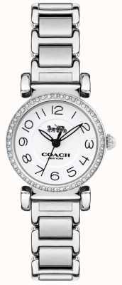 Coach Pulseira de aço das mulheres madison assistir pulseira branca 14502851