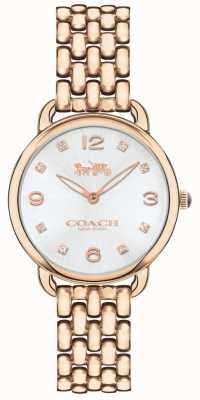 Coach Dial de prata do relógio do bracelete do tom do rosa magro do delancey das mulheres 14502783