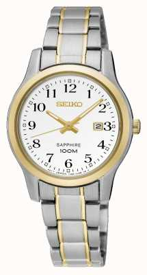 Seiko Relógio de vestido de dois tons para mulher SXDG90P1