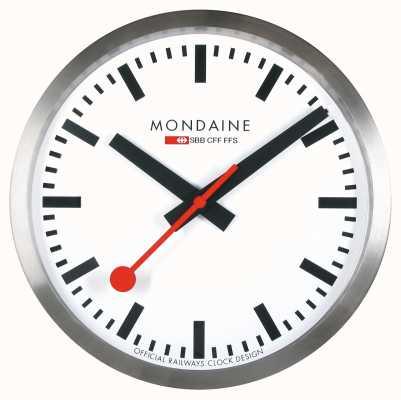 Mondaine Stop2go relógio de parede inteligente mostrador branco MSM.25S10