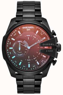 Diesel Mens megachief híbrido smartwatch ferro banhado a pulseira DZT1011