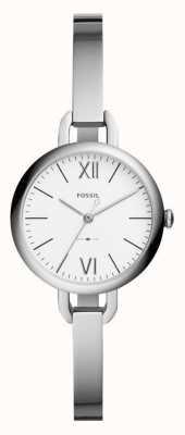 Fossil Womens annette relógio pulseira tom de prata ES4390